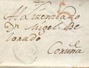 Prefilatelia Año 1814 Carta De Ferrol A Coruña Marcas Azul Galicia Ferrol Nº10 - ...-1850 Vorphilatelie