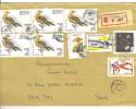VEND TIMBRES DE MADAGASCAR N° 1336 X 5 DONT 2 PAIRES + 1294 + 1339 + 1663 + 1562 ,SUR LETTRE RECOMMANDEE !!!! - Madagascar (1960-...)