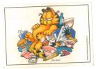 Ade108 Figurine, Stickers, Autocollant   Garfield, Gatto, Chat, Cat, Panini Vintage - Panini