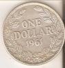 MONEDA DE PLATA DE LIBERIA DE 1 DOLLAR DEL AÑO 1961 (RARA) (COIN) SILVER,ARGENT. - Liberia