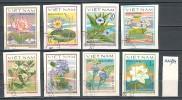 VIET- NAM - 1980 - Fleurs  -  8v - Obl. Non Dent - Unclassified