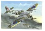 Hawker Typhoon 1B   -   Postcard From An Original Painting By John Batchelor - 1939-1945: 2ème Guerre