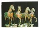 Cp, Sculptures, Venezia (Italie) - Les Chevaux Originaux De La Basilique De S. Marc, Voyagée 1989 - Sculptures