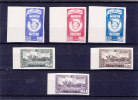 Lebanon,1947, UPU Congress 6 Stamps IMPERFORATEWD  With Margin  Mint NH-only 200 Printed- RARE-SKRILL ONLY - Lebanon