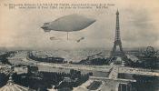 ( CPA AVIONS DIRIGEABLES )  Le Dirigeable Militaire LA VILLE DE PARIS, Descendant Le Cours De La Seine  / - Dirigibili