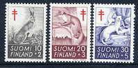 FINLAND 1962 Tuberculosis Fund Set MNH / **..  Michel 551-53 - Ungebraucht