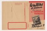 ### Publicité, Revue, Chasse,  Le Chasseur Francais, Bulletin D'inscription Recto Verso - Advertising