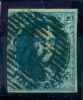 Belgique - No 7A Oblitéré P 105 (Saint Nicolas), 4 Marges, Superbe, See Scan - 1851-1857 Medaillen (6/8)