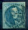 Belgique - No 7 Oblitéré 123 A 1, 4 Marges, Superbe, See Scan - 1851-1857 Medaillen (6/8)