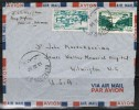 """LEBANON      Scott # 208 And # C 146  On AIRMAIL COVER  To  USA Dated """"13 III 50"""" - Lebanon"""