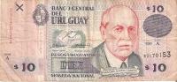 BILLETE DE URUGUAY DE 10 PESOS DEL AÑO 1998  (BANK NOTE) - Uruguay