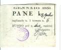 ENTE COMUNALE ASSISTENZA, BUONO PER  PANE KG. 4, 1951, - Documents Historiques