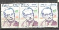 ITALIA ITALY STAMPS 2005 TRIS   ALCIDE DE GASPERI STATISTA  SASSONE 2854  USATI DI QUALITA ´ BOLLI NITIDI - 6. 1946-.. Repubblica