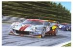 Spa 24hrs 2009 - Ford GT VDS Racing - Leinders/Kuppens/Doncker   -  Art Postcard By Benoit Deliege - Sport Automobile
