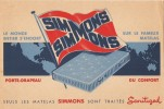 LE MONDE ENTIER S'ENDORT SUR LE FAMEUX MATELAS SIMMONS - Buvards, Protège-cahiers Illustrés