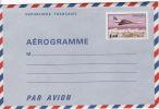 Aérogramme Concorde Survolant Paris 1,60F   Neuf, Plié  Yv 1004-AER - Aérogrammes