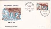 SPM 1967  Le Nouveau Port  Maury 387  FDC Non Adressé - FDC