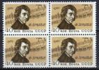 USSR 1960 Bloc De 4  V MNH F.Chopin Compositeur  Musique  Music Notes - Musique