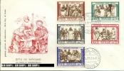 1960, Werke Der Barmherzigkeit, FDC- Minr.347-351, FDC-Minr.352-354 Und Eilmarken 355, 356 - FDC