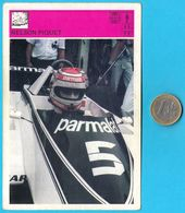 NELSON PIQUET - Brazil , Brasil ( Yugoslavian Vintage Card Svijet Sporta )  Formula 1 F-1 Car Racing Automobile - Automobilismo - F1
