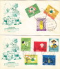 Lebanon, 1962- Boy-scout  8 Stamps On 2 Illustrated FDC With Specail 1st Day Cancellation- Scarce-SKRILL PAY. ONLY - Lebanon