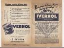 ### Publicité, Agriculture, Produit D'hiver Hivernol Pour Les Arbres, Le Fly Tox, Paris, Port 1.55 Euros - Advertising