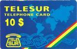 SURINAM  $10 WORLD MAP BLUE READ DESCRIPTION !!