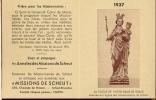 Kalender - Notre Dame De Grace - 1937 - Kalenders