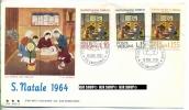 1964, Weihnachtsmarken,  FDC MiNr.464-466 - FDC