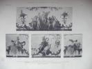 RENE DESTAILLEUR.   Documents De Décoration Au XVIIIè Siècle.   BAS-COTE D´UN CLAVECIN.  Epoque Louis XIV.  PL 4 - Prints & Engravings
