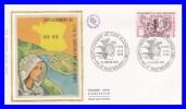 1985 (Yvert) Sur FDC Illustrée Sur Soie (GF-PJ) - Rattachement De L´île De Saint Barthélemy à La France - France 1978 - 1970-1979