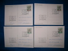 FDC499  -   VATICANO  -  4 CARDS   FDC 10.11.1983  ( CAT. FILAGRANO  C.24 + C.25 ) - Interi Postali