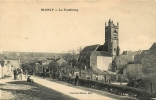 IRANCY - Le FAUBOURG - L´ Eglise - Entrée Du Village Animée - Edit. Charriat Tabac - 2 Scans - Zonder Classificatie