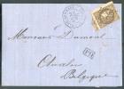 N°47 - 30 Centimes Brun, Touché à Droite Sinon Bdf Et Voisin En Bas, Obl. GC 3486 S/L. De Saint-AMAND-LES-EAUX Du 30 Avr - 1870 Emisión De Bordeaux