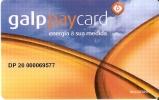 TARJETA DE GALP PAYCARD (GASOLINERA-PETROLEO) - Petróleo