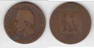 **** 10 CENTIMES 1863 BB NAPOLEON III STRASBOURG **** EN ACHAT IMMEDIAT - Francia