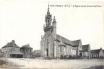 35 ILLE ET VILAINE  -  CHELUN  L´Eglise, Façade Ouest Et La Place - Otros Municipios