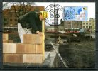 "Germany Allemagne 1986 Mi. Nr.1275 Maximumcart ""Handwerksberufe: Maurer Jugendmarke "" 1 MC Used - Factories & Industries"