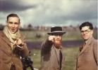 John Cooper - Denis Jenkinson - Bill Boddy  -  Brands Hatch   -  1950    -  Real Photo Postcard - Motorsport