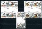 0494 - GB-GUERNSEY-ALDERNEY - Mi. 13-17 Gestempelte Zwischenstege, Vögel - Used Set Gutter Pairs, Birds - Alderney