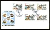 0495 - GB-GUERNSEY-ALDERNEY - Mi. 13-17 Auf FDC, Vögel - Complete Set On FDC, Birds - Alderney