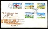 0496 - GB-GUERNSEY-ALDERNEY - Mi. 18-22 Auf FDC, Flugzeuge - Complete Set On FDC, Planes - Alderney