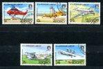 0497 - GB-GUERNSEY-ALDERNEY - Mi. 18-22 Gestempelt, Flugzeuge - Complete Used Set , Planes - Alderney