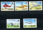 0498 - GB-GUERNSEY-ALDERNEY - Mi. 18-22 Postfrisch, Flugzeuge - Complete Mnh Set , Planes - Alderney