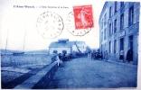 CPA L'aber Wrach Hôtel Bellevue Et Gare - France