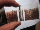 GUERRE 14-08- AISNE 1918 BLESSES ALLEMANDS DIAPOSITIVE A VISUALISER EN RELIEF - Plaques De Verre