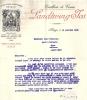 Entête  15/01/1930  -  SCHWYX  ( Suisse )  -  LANDTWING  JOS  Distillerie De Cerises Pour Marc  FOUCAULD  NICE - France