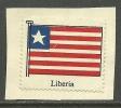 LIBERIA Old Poster Stamp Cinderella Flagge Flag - Liberia