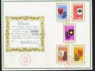 1965  Presentation Folder  «Principles Of The State, Semi-postals» Series - Indonesia