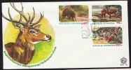 1978  Endangered Speciaes Anteater, Deer, Tiger  On Unaddressed FDC - Indonesia